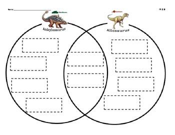 Dinosaur Compare & Contrast center