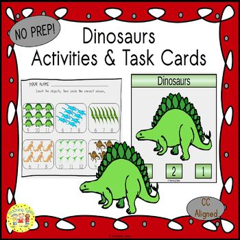 Dinosaurs Clip Task Cards