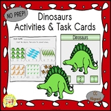 Dinosaurs Count and Clip Task Cards