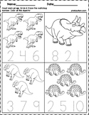 Dinosaur Count & Number Write