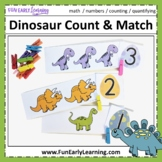 Dinosaur Count and Match Math Activity