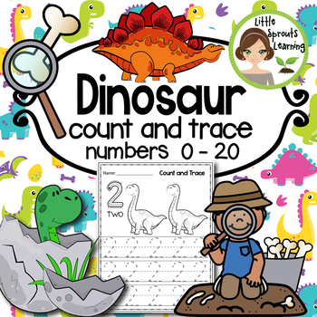 Dinosaur Count and Trace  1-20