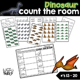 Dinosaur Count the Room for Numbers 13-20 (FREE)