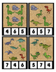 Dinosaur Counting 0 to 20 Clip Clothes Pin Cards Math Cent