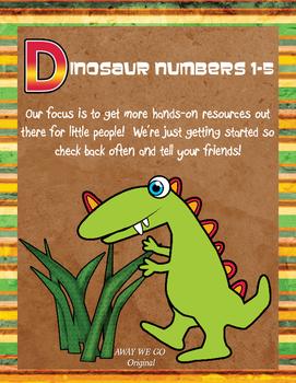 Dinosaur Counting 1-5