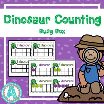 Dinosaur Counting Busy Box