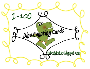 Dinosaur Counting Cards 1-100