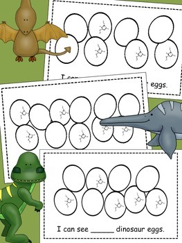"Dinosaur ""Counting Eggs"" Emergent Reader"