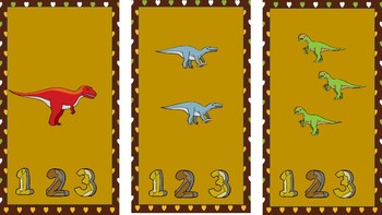 Dinosaur Counting File Folder-Autism