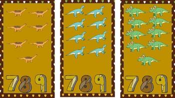 Dinosaur Counting File Folder-Autism