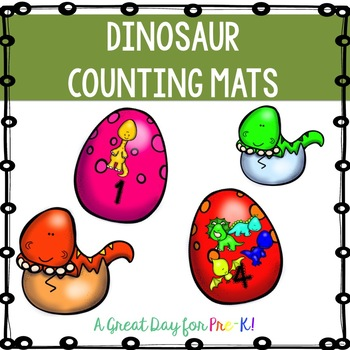 Dinosaur Counting Mats for Preschool, Prek, and Kindergarten