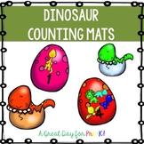 Dinosaur Counting Mats for Preschool, Prek, and Kindergarten