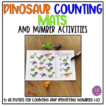 Dinosaur Counting Mats and Number Activities