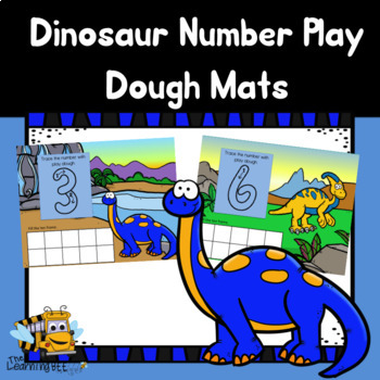 Dinosaur Counting Play Dough Mats