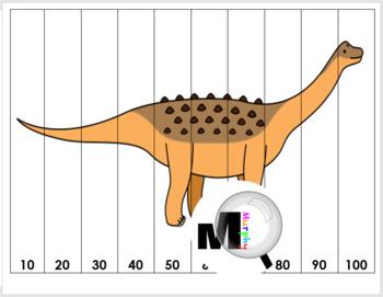 Number Puzzles - Dinosaur Math