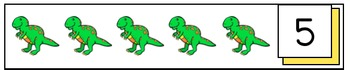 Dinosaur Counting Strips