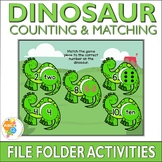 Dinosaur Counting and Matching File Folder Activities