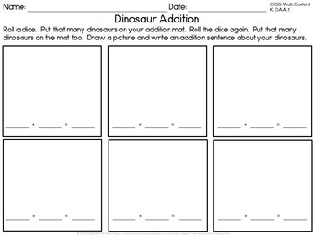 Dinosaur Counting and Sequencing 1 - 20