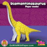Dinosaur Craft Activity | Diamantinasaurus 3D Paper Model