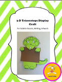 Dinosaur Craft - Triceratops Craft for Writing, Bulletin Boards,or Art