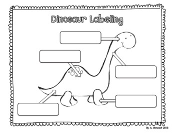 Dinosaur Craftivity and Response Sheets