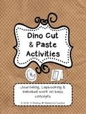 Dinosaur Cut & Paste Activities {for Journaling, Lapbooking & Individual Work}