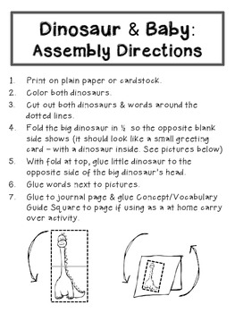 Dinosaur Cut & Paste Activities {for Journaling, Lapbooking & Individual Work}