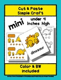 Dinosaur - Cut & Paste Craft - Mini Craftivity for Pre-K &