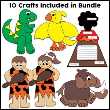Dinosaur Cut and Paste Set