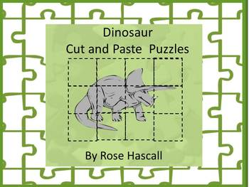 Dinosaurs Unit Cut and Paste Picture Puzzles Kindergarten