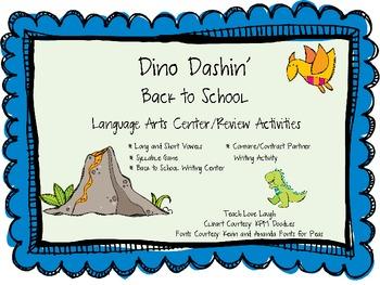 Dinosaur Dashin' Back To School Literacy Center Activities