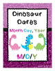 Dinosaur Dates -- Manipulating Short & Long Dates