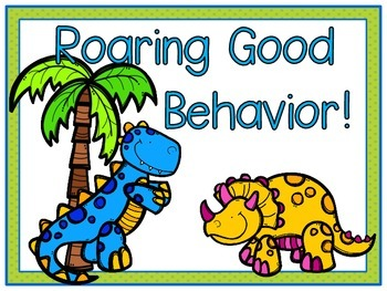 Dinosaur Days Behavior Clip Chart