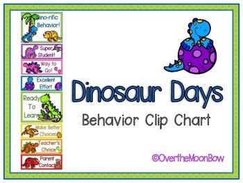 Dinosaur Days Behavior Clip Chart