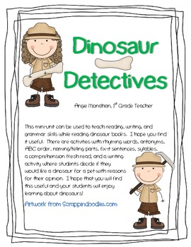 Dinosaur Detective Mini ELA Unit