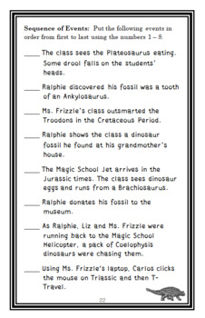 Dinosaur Detectives (Magic School Bus #9) Novel Study / Comprehension  (25 pgs)