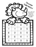 Dinosaur Dice Subtraction Game
