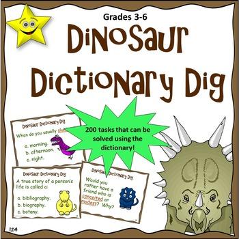 Dictionary Skills, 200 Task Cards