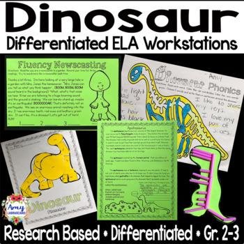Dinosaur Differentiated ELA Workstations