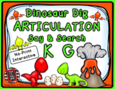 Dinosaur Dig Articulation Say and Search K and G