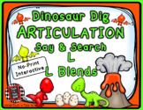 Dinosaur Dig Articulation Say and Search L and L BLENDS