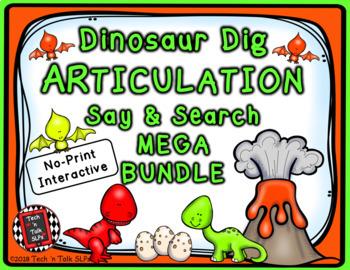 Dinosaur Dig Articulation Say and Search MEGA BUNDLE