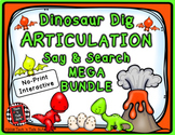 Dinosaur Dig Articulation Say and Search MEGA BUNDLE
