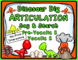 Dinosaur Articulation Say & Search PreVocalic & Vocalic R