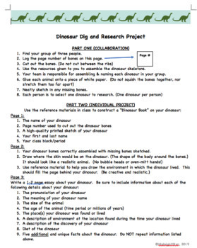Dinosaur Dig & Research Project- MidnightStar