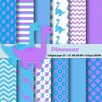 Dinosaur Digital Paper