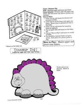 Dinosaur Digs File Folder