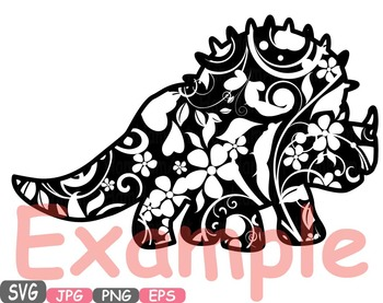 Dinosaur Dinos pack Mascot Flower Clipart zoo circus trex fossil Birthday -460s