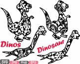 Dinosaur Dinos pack Mascot Flower Clipart zoo circus trex fossil Birthday -461s