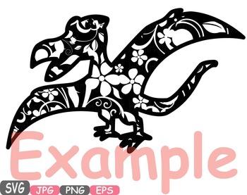 Dinosaur Dinos pack Mascot Flower Clipart zoo circus trex fossil Birthday -462s